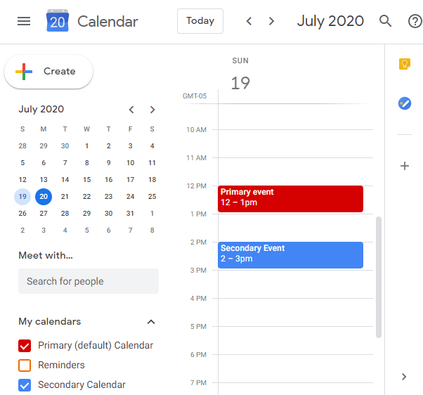 Secondary calendar comes from another account via Google's built-in sharing features