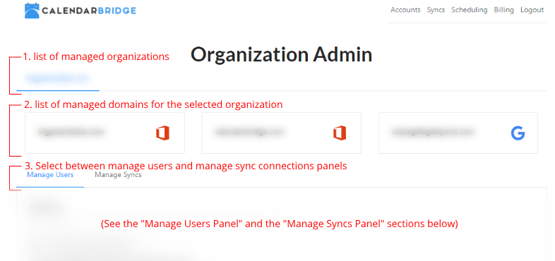 Organization Admin Portal